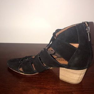 LUCKY Band 🍀 Wrap Tie Up Small Heel Black